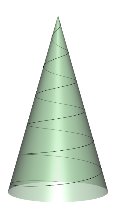 Conical spiral